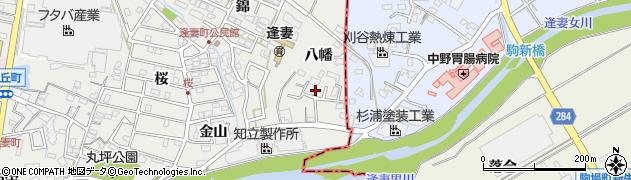 愛知県知立市逢妻町(八幡)周辺の地図