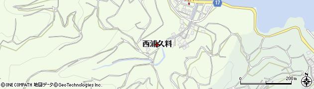 静岡県沼津市西浦久料周辺の地図