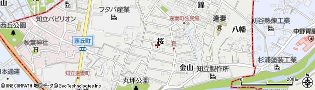 愛知県知立市逢妻町(桜)周辺の地図