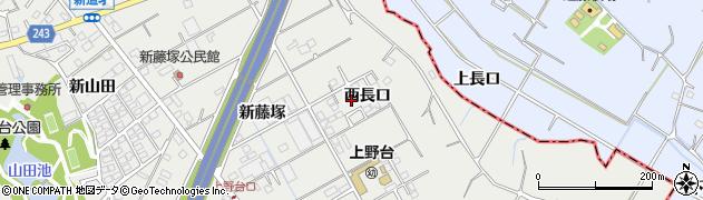 愛知県東海市富木島町(西長口)周辺の地図