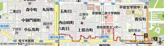 京都府京都市上京区東魚屋町周辺の地図