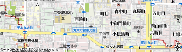 京都府京都市上京区北伊勢屋町周辺の地図