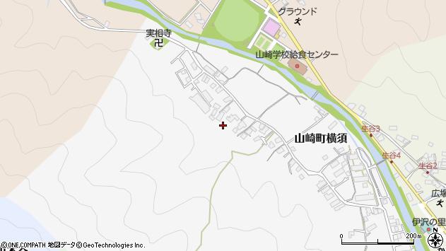 〒671-2518 兵庫県宍粟市山崎町横須の地図
