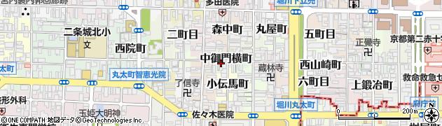 京都府京都市上京区中御門横町周辺の地図
