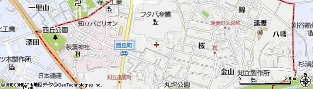 愛知県知立市逢妻町(道瀬山)周辺の地図