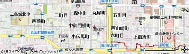 京都府京都市上京区講堂町周辺の地図