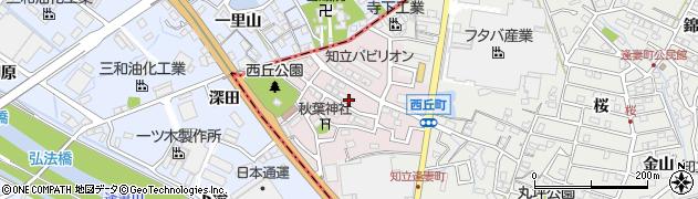 愛知県知立市西丘町(西丘)周辺の地図