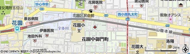 京都府京都市右京区花園中御門町周辺の地図