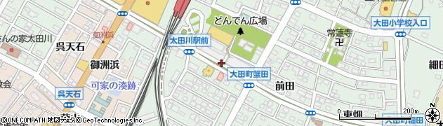 愛知県東海市大田町(蟹田)周辺の地図