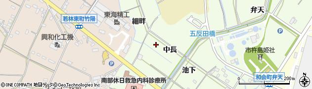 愛知県豊田市和会町(中長)周辺の地図