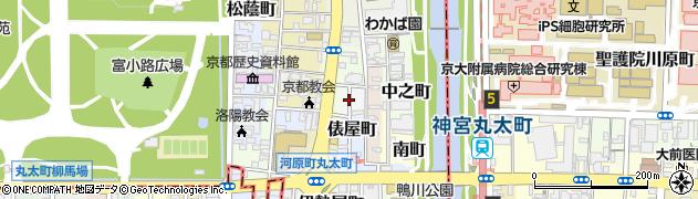 京都府京都市上京区袋町周辺の地図