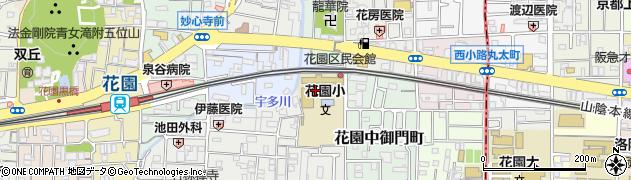 京都府京都市右京区花園車道町周辺の地図