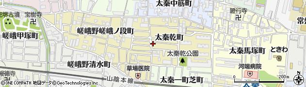 京都府京都市右京区太秦乾町周辺の地図