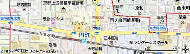 京都府京都市中京区西ノ京円町周辺の地図
