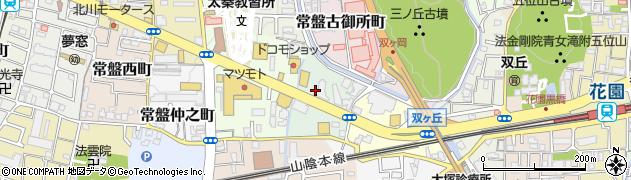 京都府京都市右京区常盤一ノ井町周辺の地図