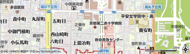 京都府京都市上京区東裏辻町周辺の地図