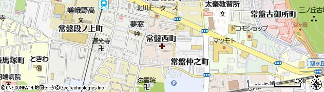 京都府京都市右京区常盤西町周辺の地図
