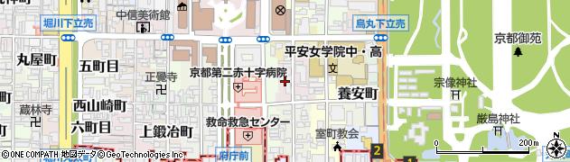 京都府京都市上京区門跡町周辺の地図