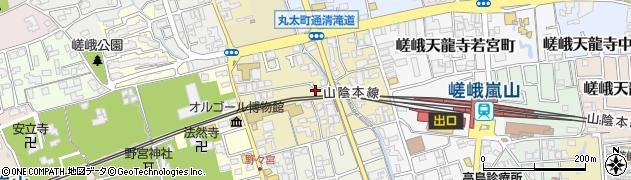 京都府京都市右京区嵯峨天龍寺瀬戸川町周辺の地図