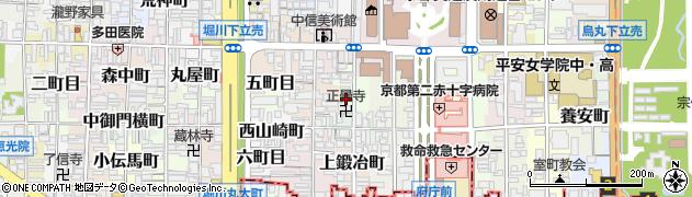 京都府京都市上京区八幡町周辺の地図