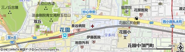 京都府京都市右京区太秦安井小山町周辺の地図