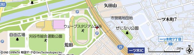 愛知県刈谷市築地町(荒田)周辺の地図
