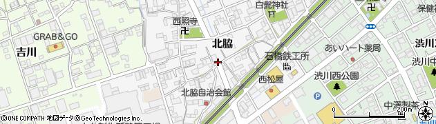 静岡県静岡市清水区北脇周辺の地図