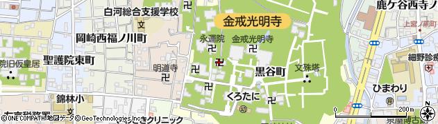 長安院周辺の地図