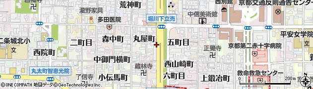 京都府京都市上京区長尾町周辺の地図