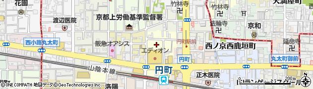 京都府京都市中京区西ノ京西円町周辺の地図
