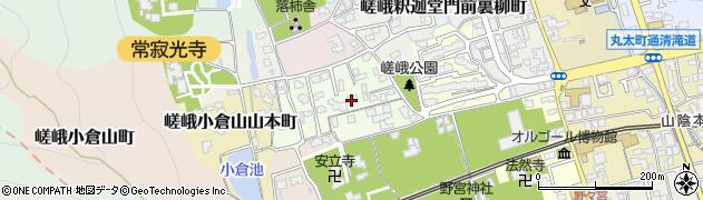京都府京都市右京区嵯峨小倉山堂ノ前町周辺の地図