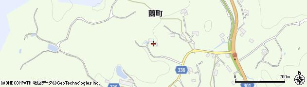 愛知県豊田市蘭町(花ノ木)周辺の地図