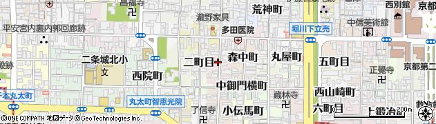 京都府京都市上京区菱屋町周辺の地図