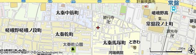 京都府京都市右京区太秦宮ノ前町周辺の地図