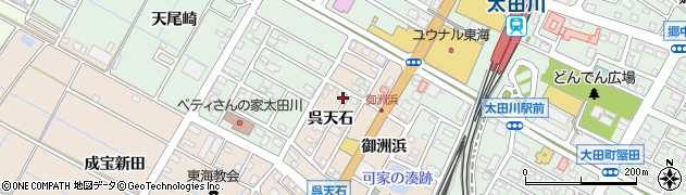 愛知県東海市高横須賀町(呉天石)周辺の地図
