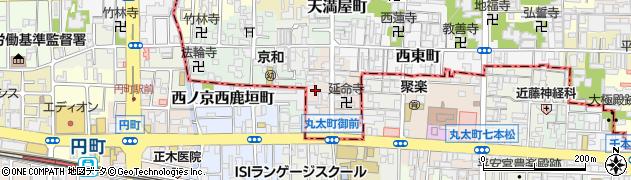 京都府京都市上京区下之町周辺の地図