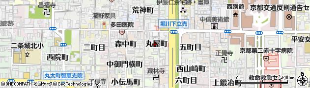 京都府京都市上京区丸屋町周辺の地図