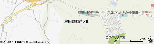京都府亀岡市稗田野町芦ノ山周辺の地図