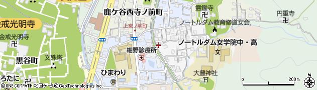 京都府京都市左京区鹿ケ谷桜谷町周辺の地図