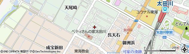 愛知県東海市大田町(天尾崎)周辺の地図