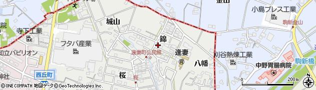 愛知県知立市逢妻町(錦)周辺の地図