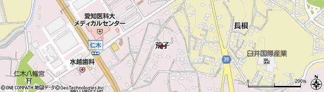 愛知県岡崎市仁木町(荒子)周辺の地図