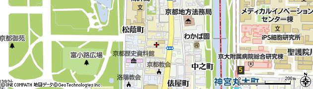 京都府京都市上京区新烏丸頭町周辺の地図