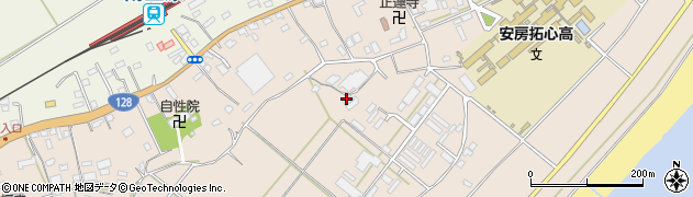 千葉県南房総市和田町海発周辺の地図