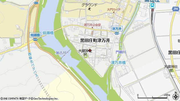〒679-0315 兵庫県西脇市黒田庄町津万井の地図