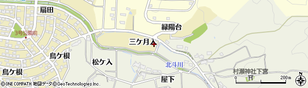 愛知県岡崎市細川町(三ケ月入)周辺の地図