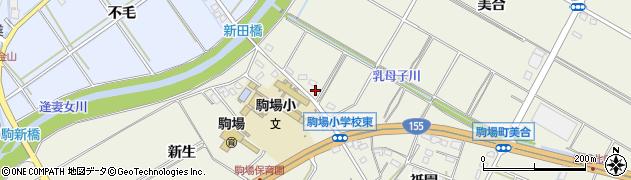 愛知県豊田市駒場町(川戸)周辺の地図