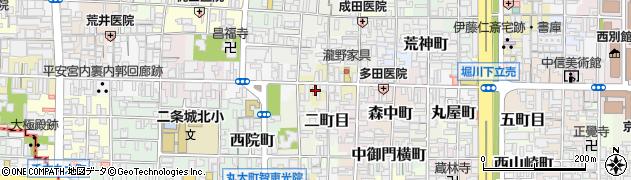 京都府京都市上京区浮田町周辺の地図