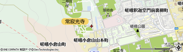 京都府京都市右京区嵯峨小倉山小倉町周辺の地図