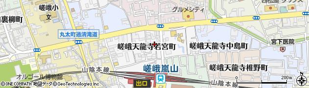 京都府京都市右京区嵯峨天龍寺若宮町周辺の地図